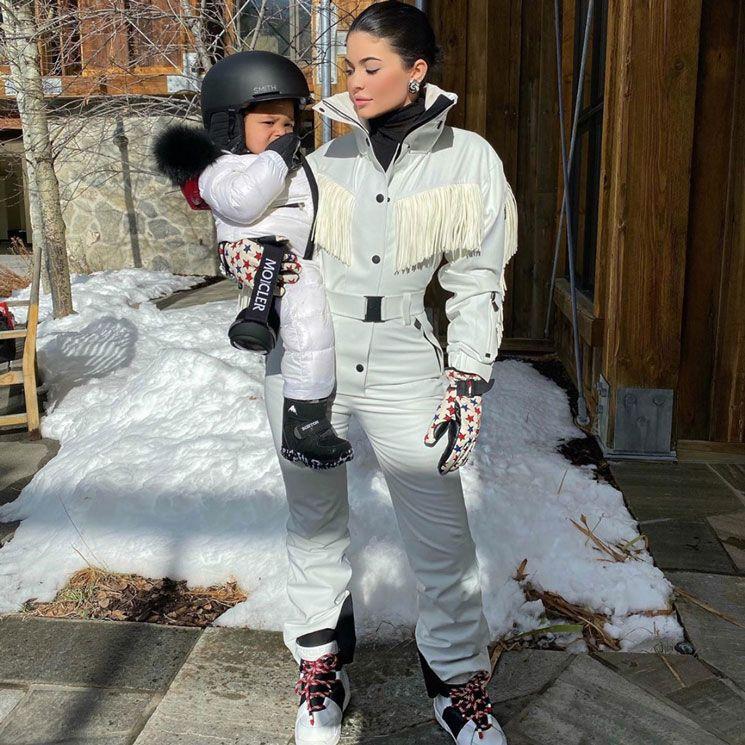 Kylie Jenner's daughter Stormi Webster snowboarding