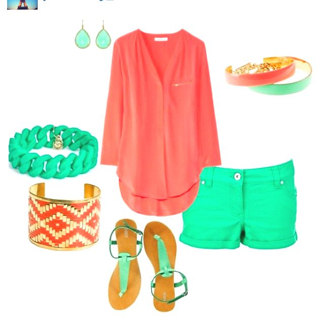 ...#coral #mint      Love this colors