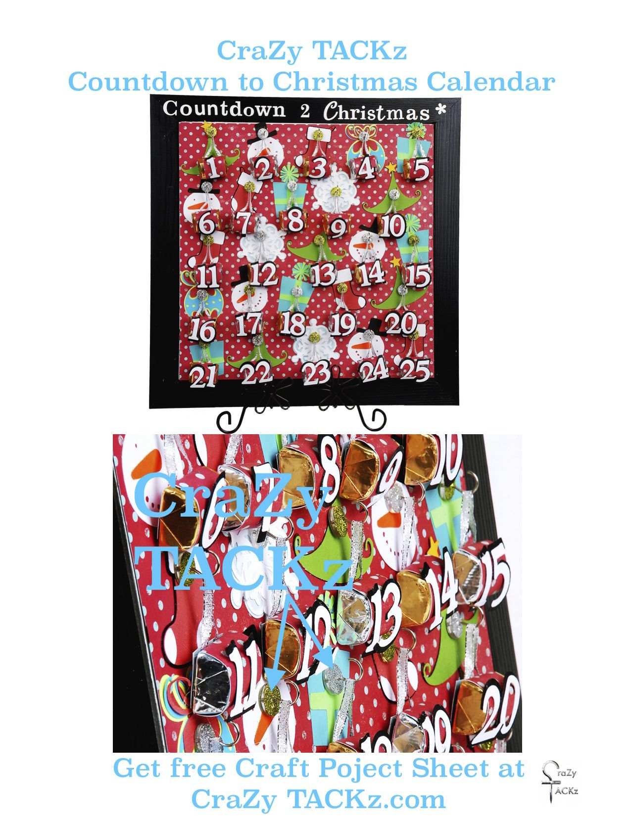 Create your classroom Countdown to Christmas calendar with CraZy