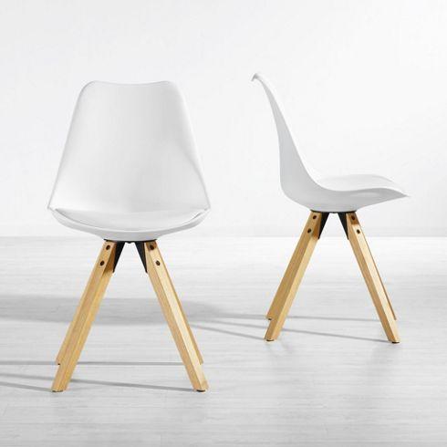 Stuhl Ricky In Weiß mit Holzfüßen - Kleinmöbel - Online Only - küchenstuhl weiß holz