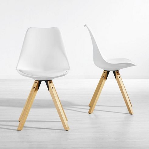 stuhl ricky in wei mit holzf en kleinm bel online only produkte haus enrichtung. Black Bedroom Furniture Sets. Home Design Ideas