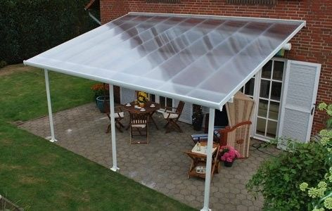 palram palram patio cover extension kit 13 x 6 white clear