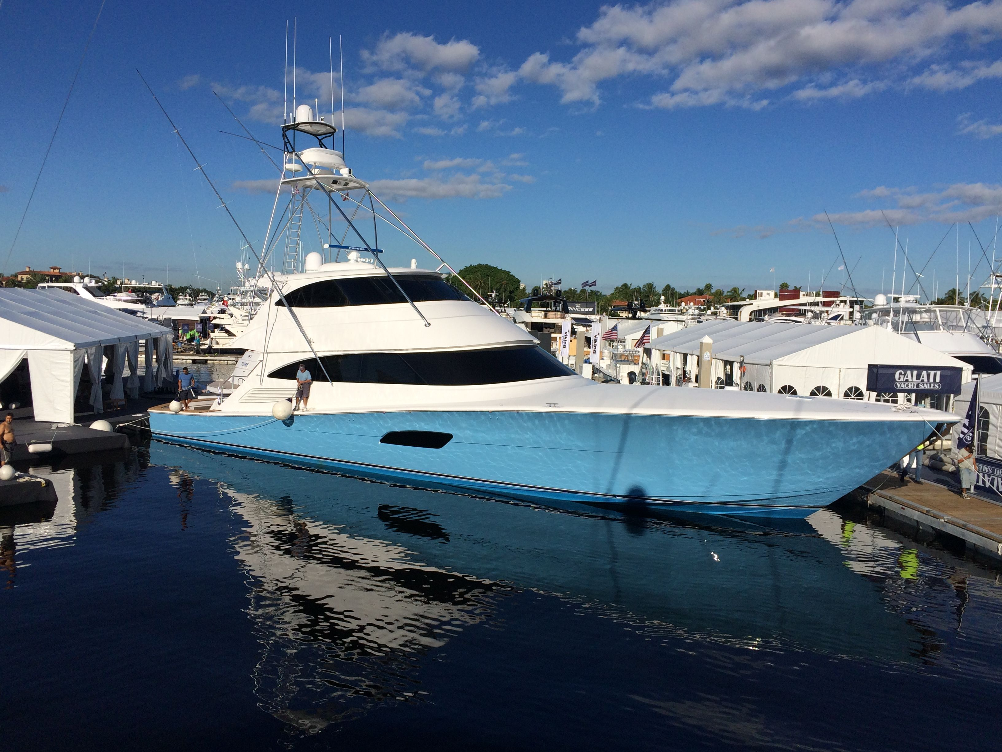The viking 92 is a massive battlewagon here she is at her for Viking fishing boat