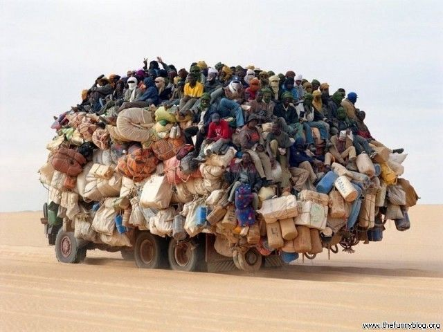 Indian transportation - I think I can squeeze in here on the oof left . . . .