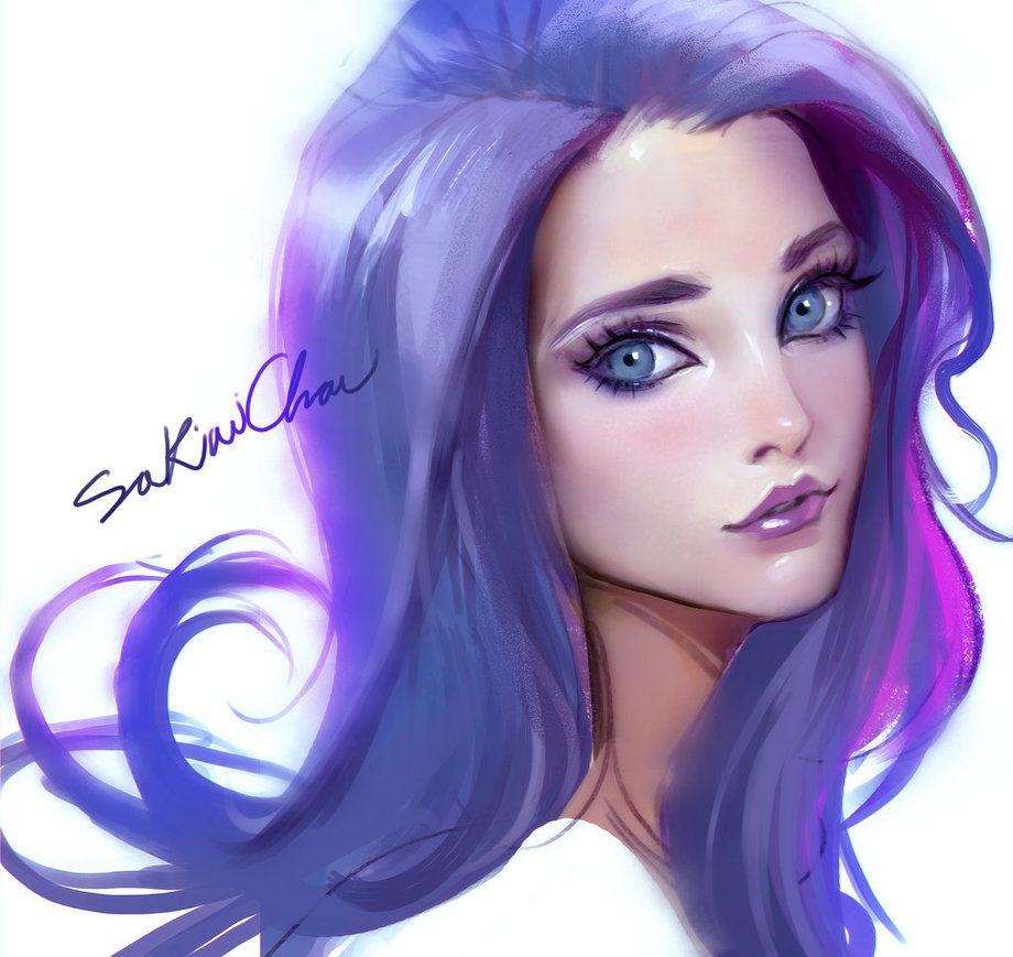 portrait experiemental by sakimichan to draw pinterest