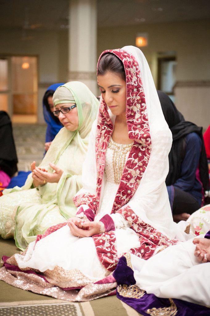 89364444dca South Asian desi bride. Wedding ritual prayer du a at masjid