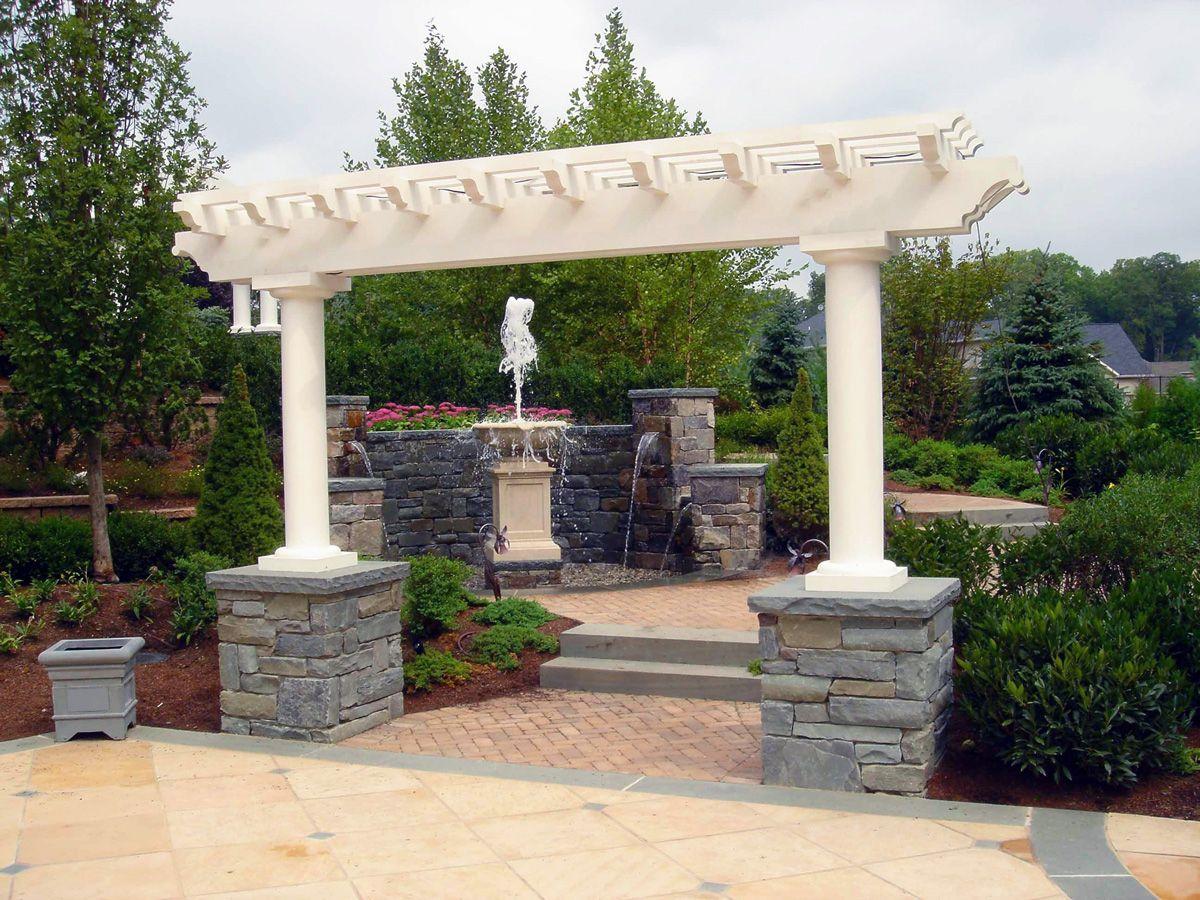 custom garden structure pergola precast fountain franklin lakes