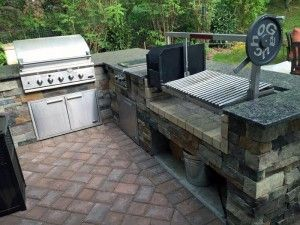 The Grill To Complete Your Outdoor Kitchen A Parrilla Grilling Insert For Wood Or Charcoal