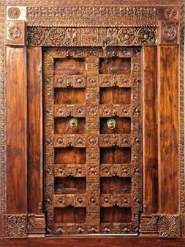 Indian traditional door design india pinterest door for Traditional main door design