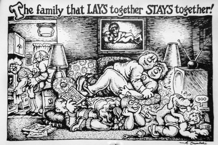 the family that lays together stays together r crumb jpg 765a 509