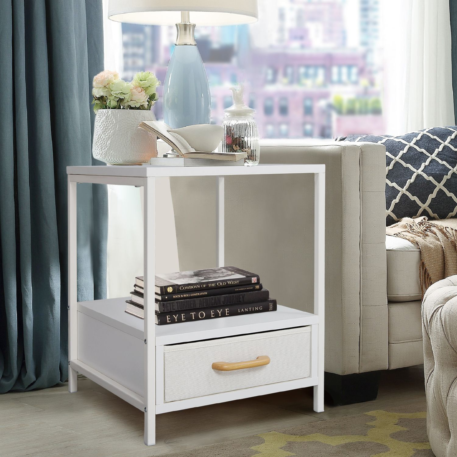 Lifewit Square Side Nightstand Elegant End Table Coffee