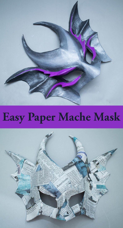 Easy Paper Mache Mask | Halloween Masks | Pinterest | Paper strips ...