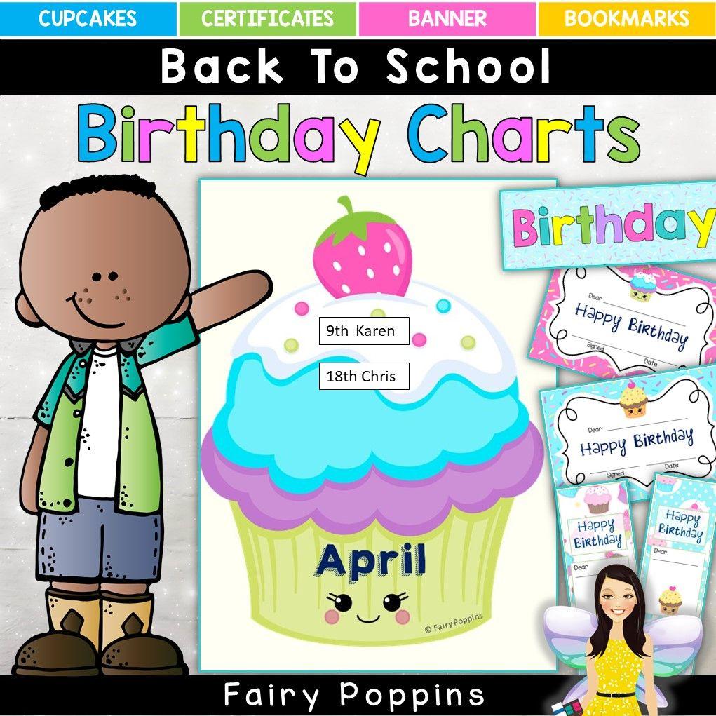 Classroom Fairy Poppins Birthday Charts Student Birthdays Preschool Worksheets [ 1021 x 1021 Pixel ]