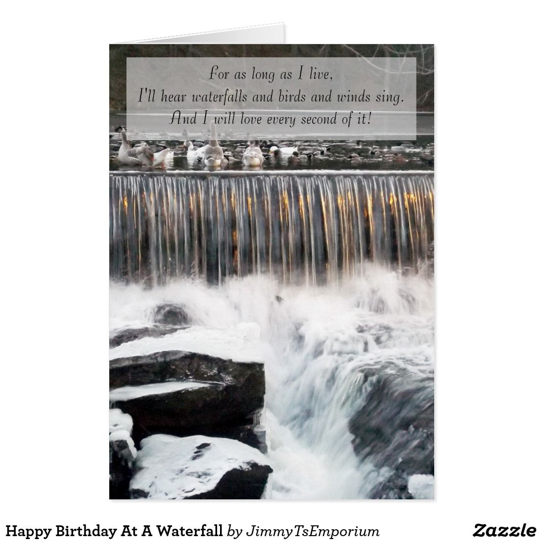 Happy Birthday At A Waterfall Want To See More Great Items For