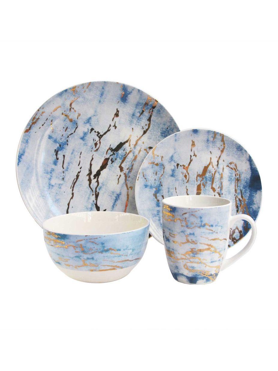American Atelier Marble Dinnerware Set 16 Pc Americanatelier