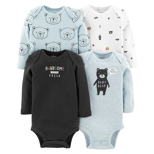 d9e476256 Baby Boy Carter's 4-pack Bear Graphic Bodysuits in 2018 | Patterns ...