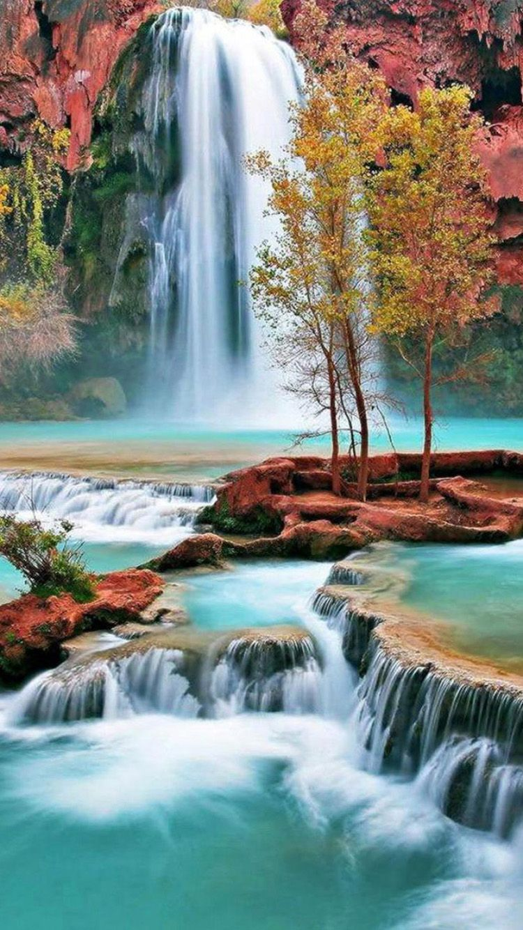 tropical waterfall hd desktop wallpaper : widescreen : high 915×515