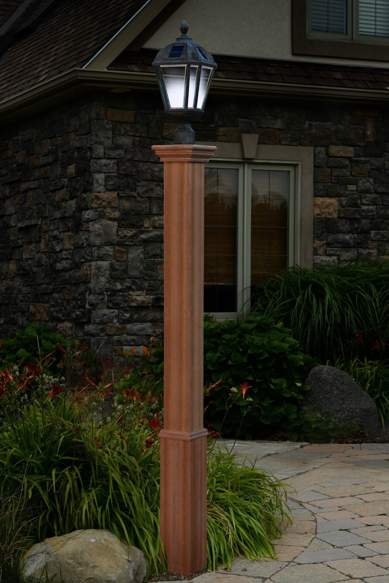 Wooden Light Post Designs Trinity 74 Quot Post