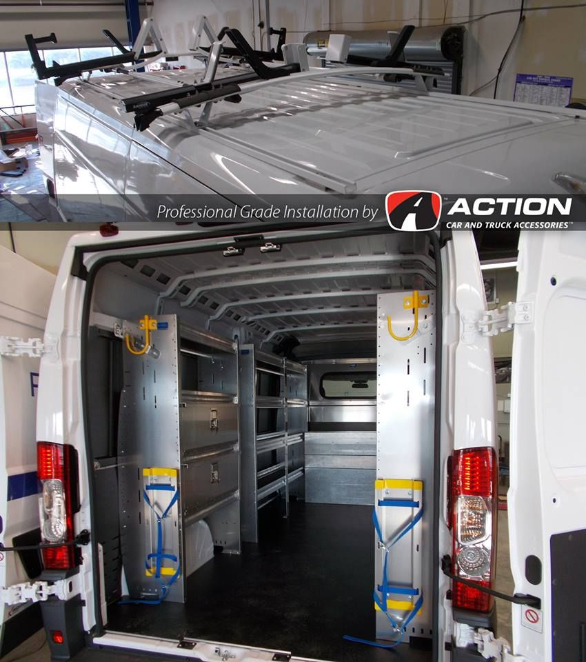 Promaster Van With Shelving And Double Drop Down Ladder Rack By
