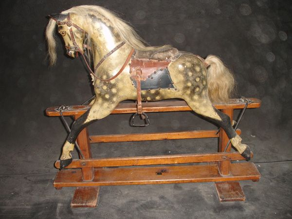 Baby Carriage Horse On Safety Stand Antique Rocking Horse Rocking Horse Horses