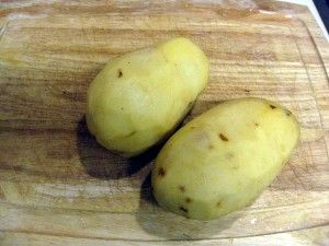 Photo of take two large potatoes