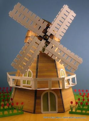 I think Brigit is brilliant!  Love her creations she makes using Mary's SVG Cuts!! Here is her Windmill using the 3D egg from the POPLAR STREET TULIPS kit for the main body and several other kits for the rest.  Awesome!!!  Oh, did I forget to mention, Congratulations to Brigit for winning the SPRING CHALLENGE over at SVG CUTs facebook page for taking 1st place!!!!  Well deserved!  I bow down to her!!!