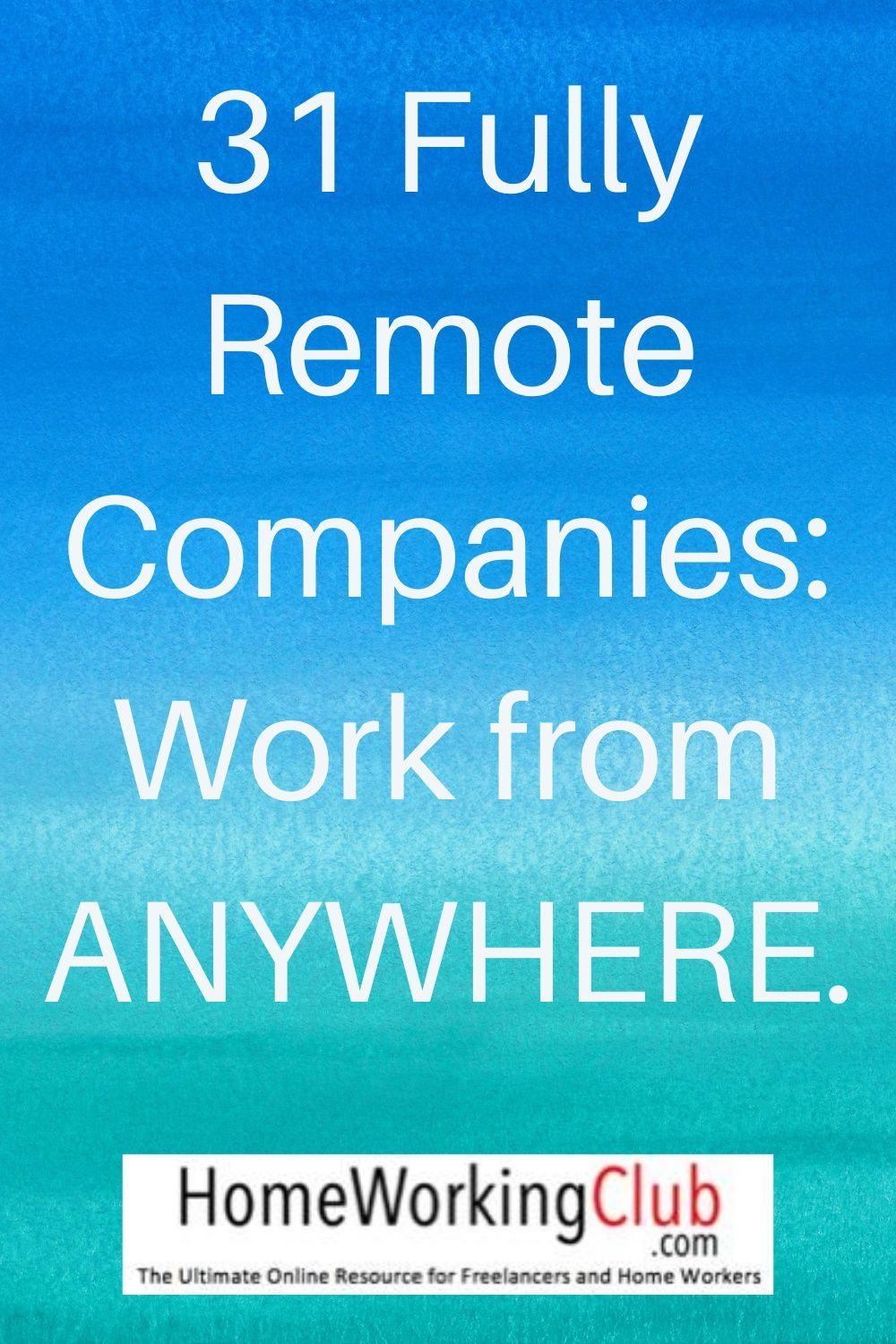 31 Fully Remote Companies Work from ANYWHERE. in 2020