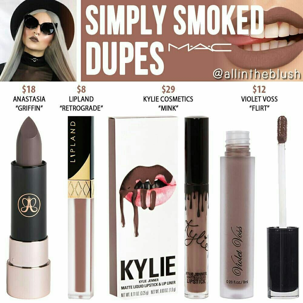 Pinterest IIIannaIII 🌹💦 Makeup dupes, Lipstick dupes, Dupes