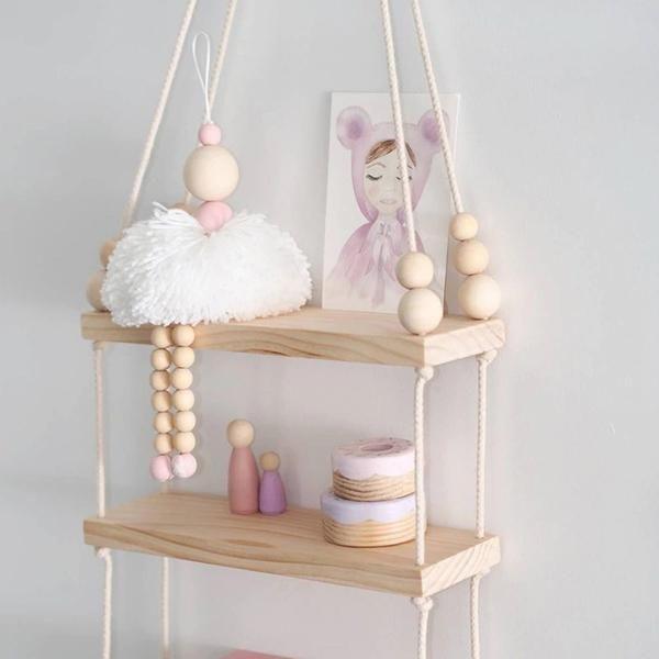 Photo of Klassische Ballett Mädchen Verzierung Holz Perlen Ornament Tänzer Kinderzimmer Baby Zimmer Dekor