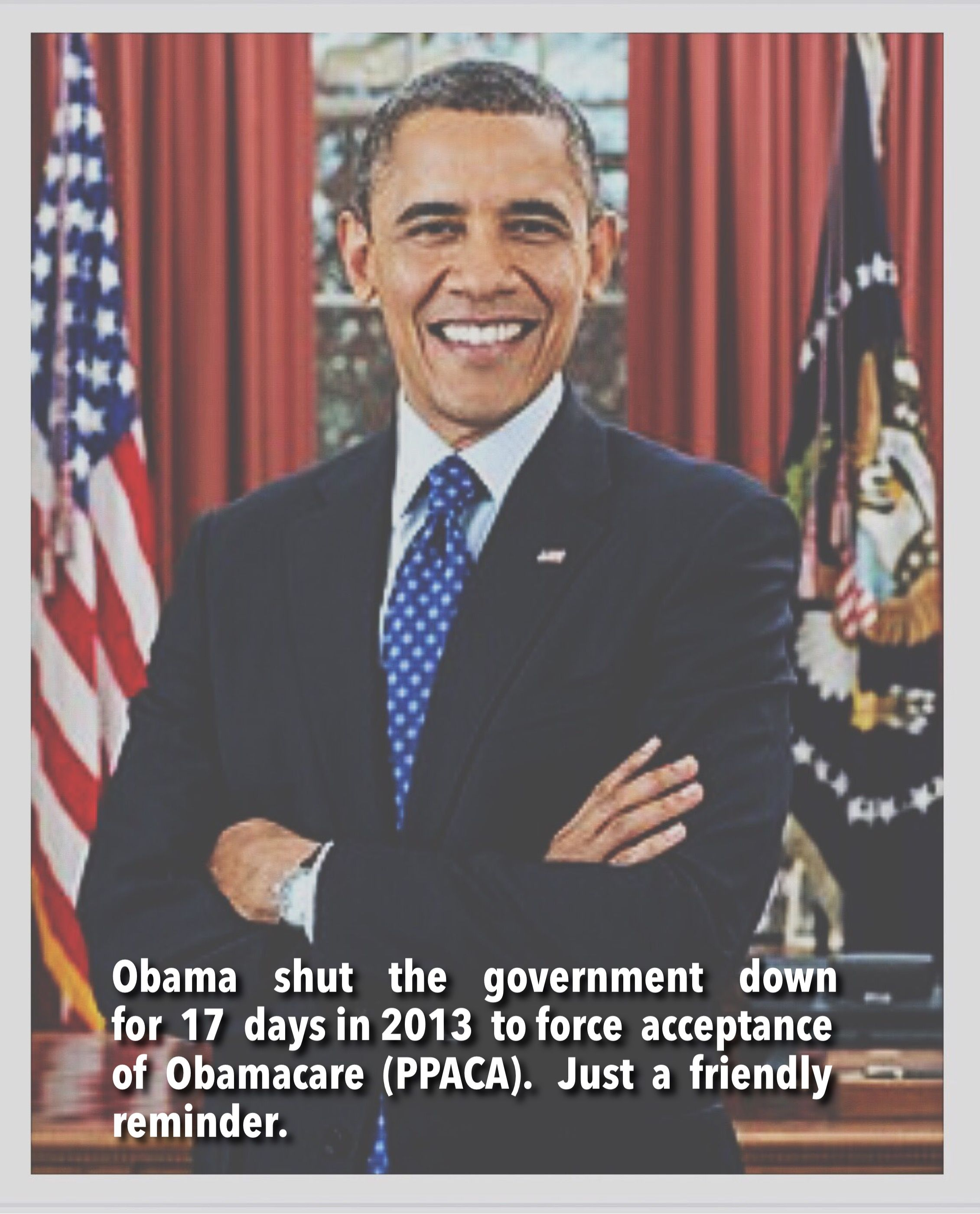 Why did obama shut the government down