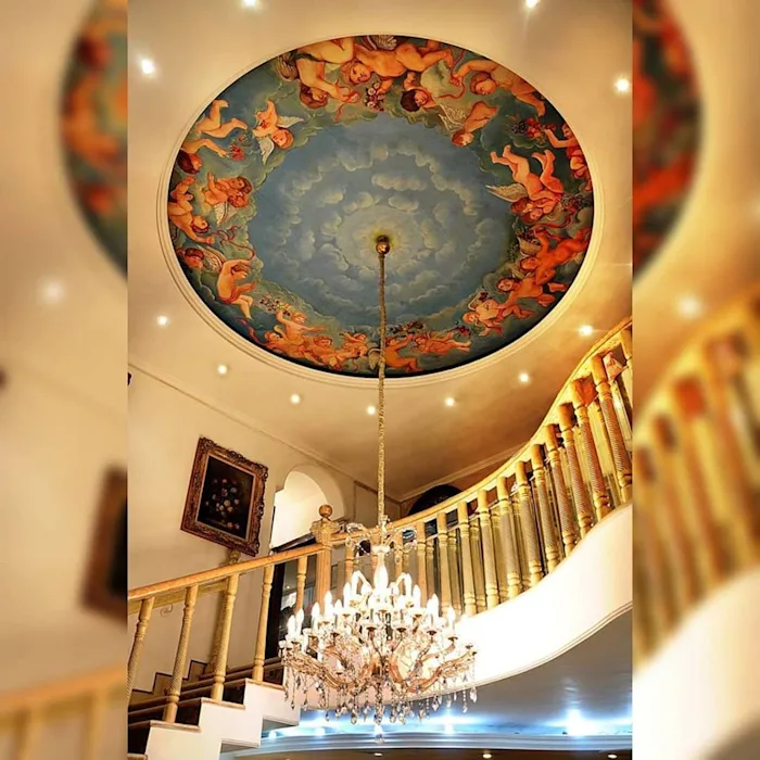 The Ceiling Projection By Liveup Homes Colonial Marble Ceiling Design False Ceiling Design Ceiling