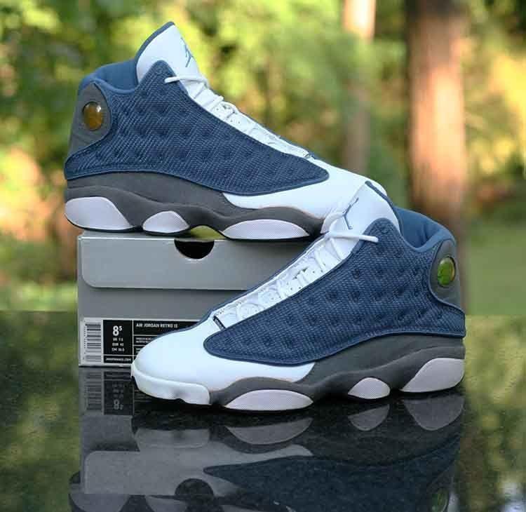112ccddb81f21c Nike Air Jordan 13 Retro Flint OG French Blue Grey 310004-441 Men s Size  8.5  Nike  BasketballShoes