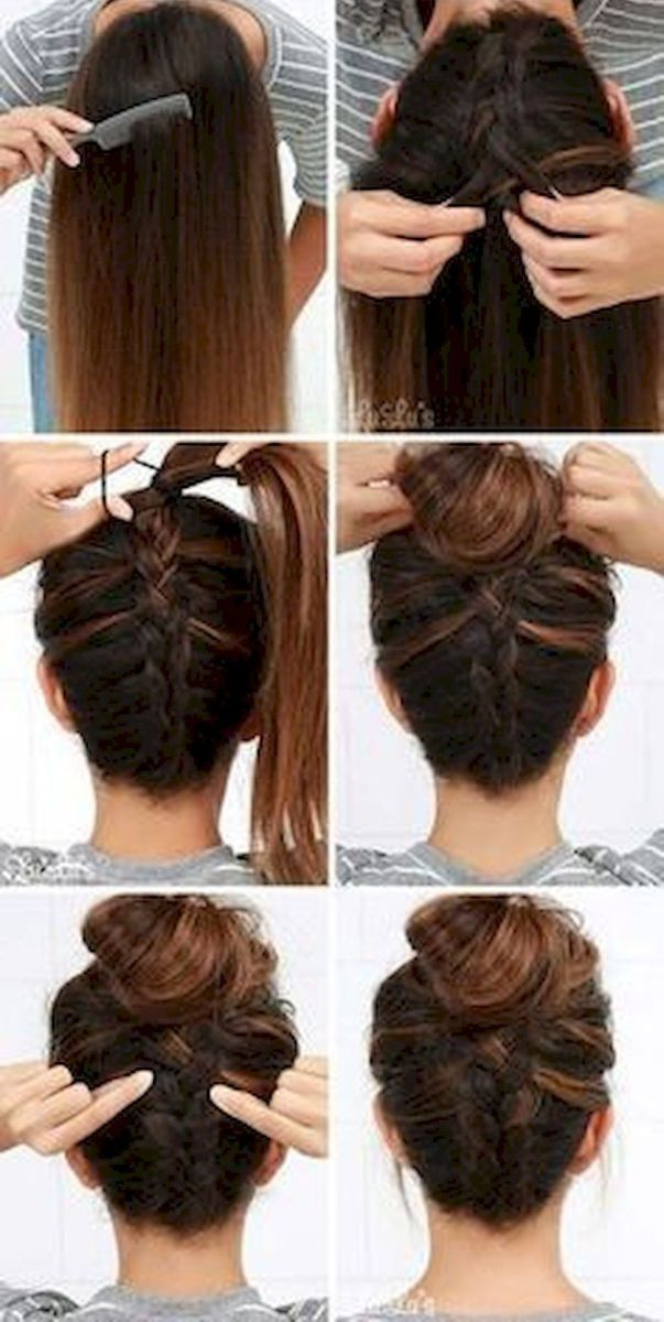34 Five Minute Gorgeous And Easy Hairstyle Hair Bun Hairstyles For