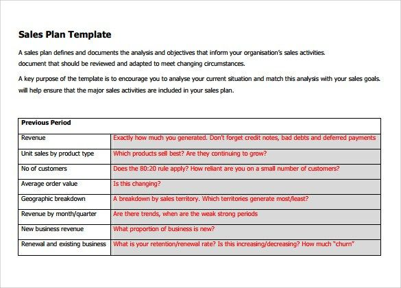 Sales Plan Template  Sales Plan Template    Template