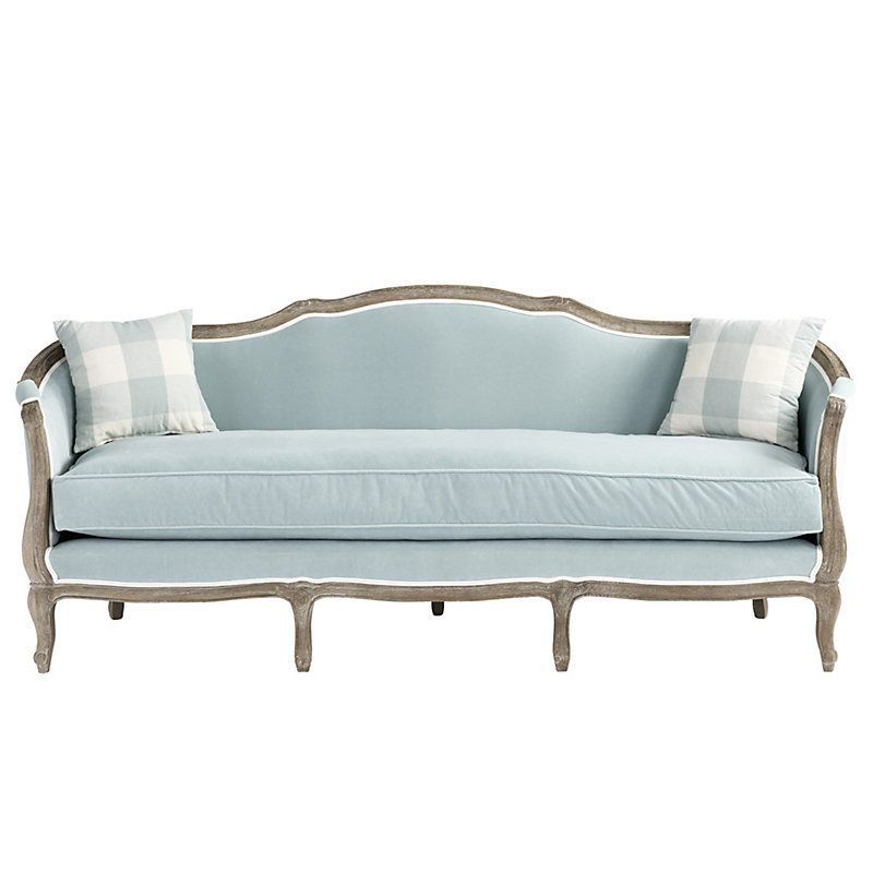 Sofia Sofa in Queens Velvet Spa Stocked Sofa design