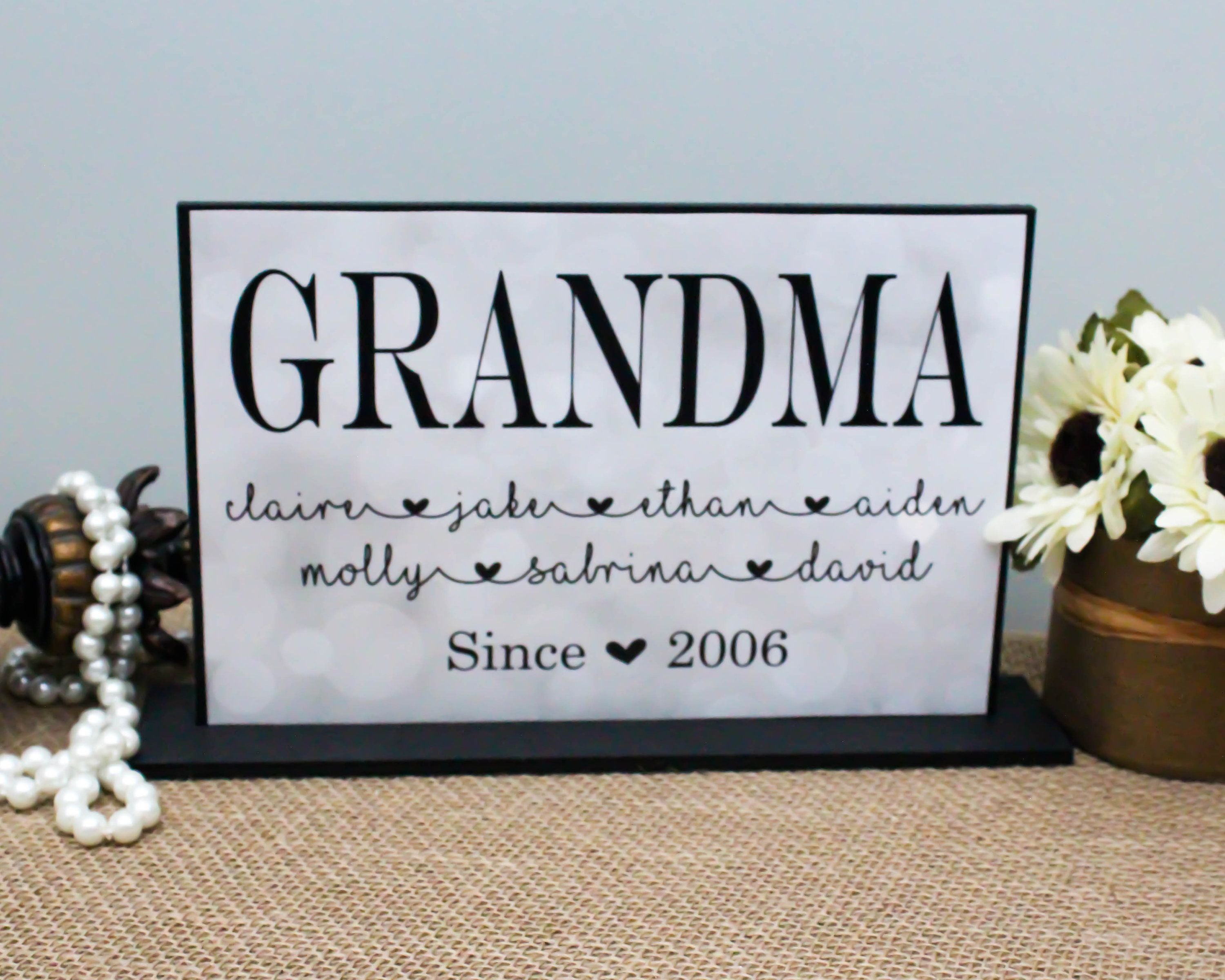 Personalized Mother S Day Gift Mamaw Gifts Grandma Sign Grandma
