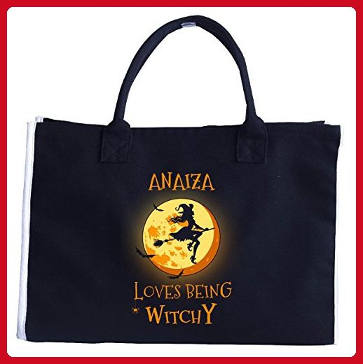 Anaiza Loves Being Witchy. Halloween Gift - Tote Bag - Top handle bags (*Amazon Partner-Link)