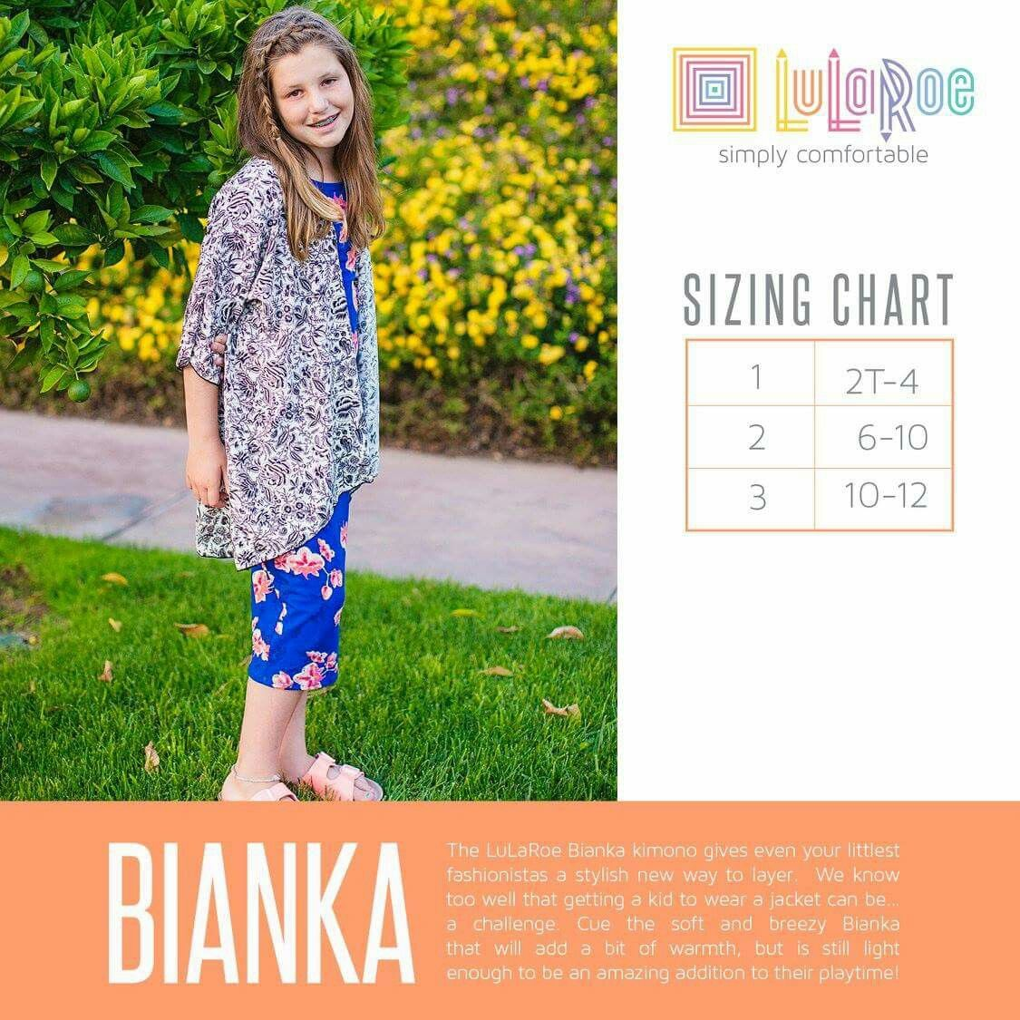 92bd033f8f647b LulaRoe Bianka Size Chart. Shop the LulaRoe Kids Collection Now with Shanel    https