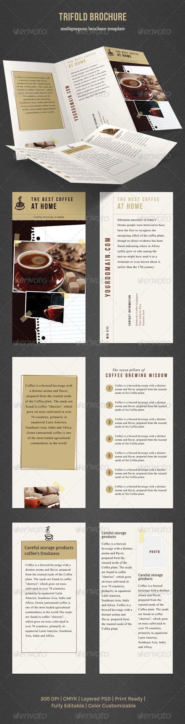 Print Templates Trifold Brochure