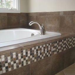 Tiled Tub Decks Tile Tub Deck For The New House Bathtub