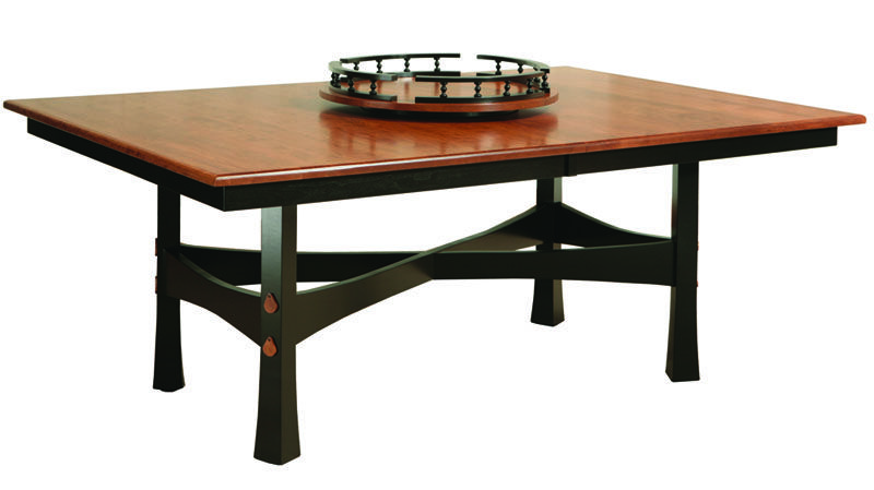 USA Made Amish Furniture Fresno Leg Dining Room Table