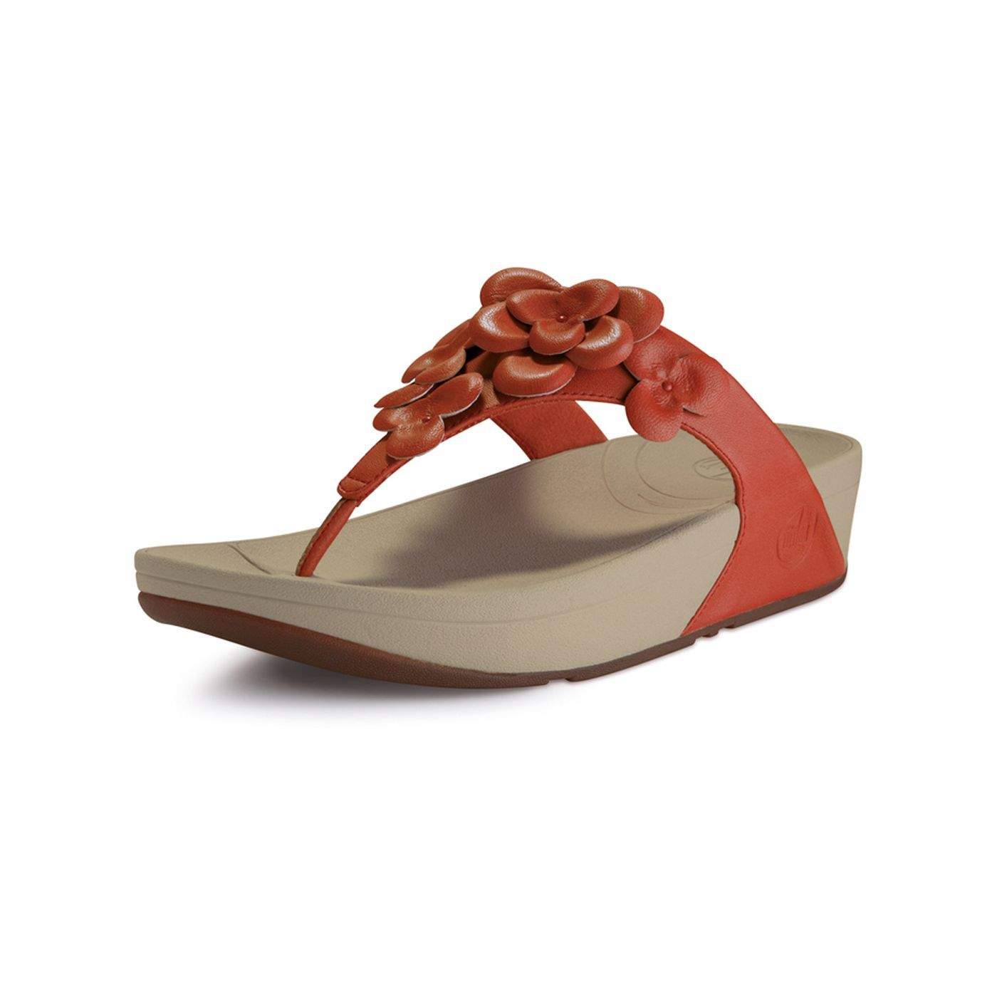 Fit flop fleur in mineral red red sandals fitflop