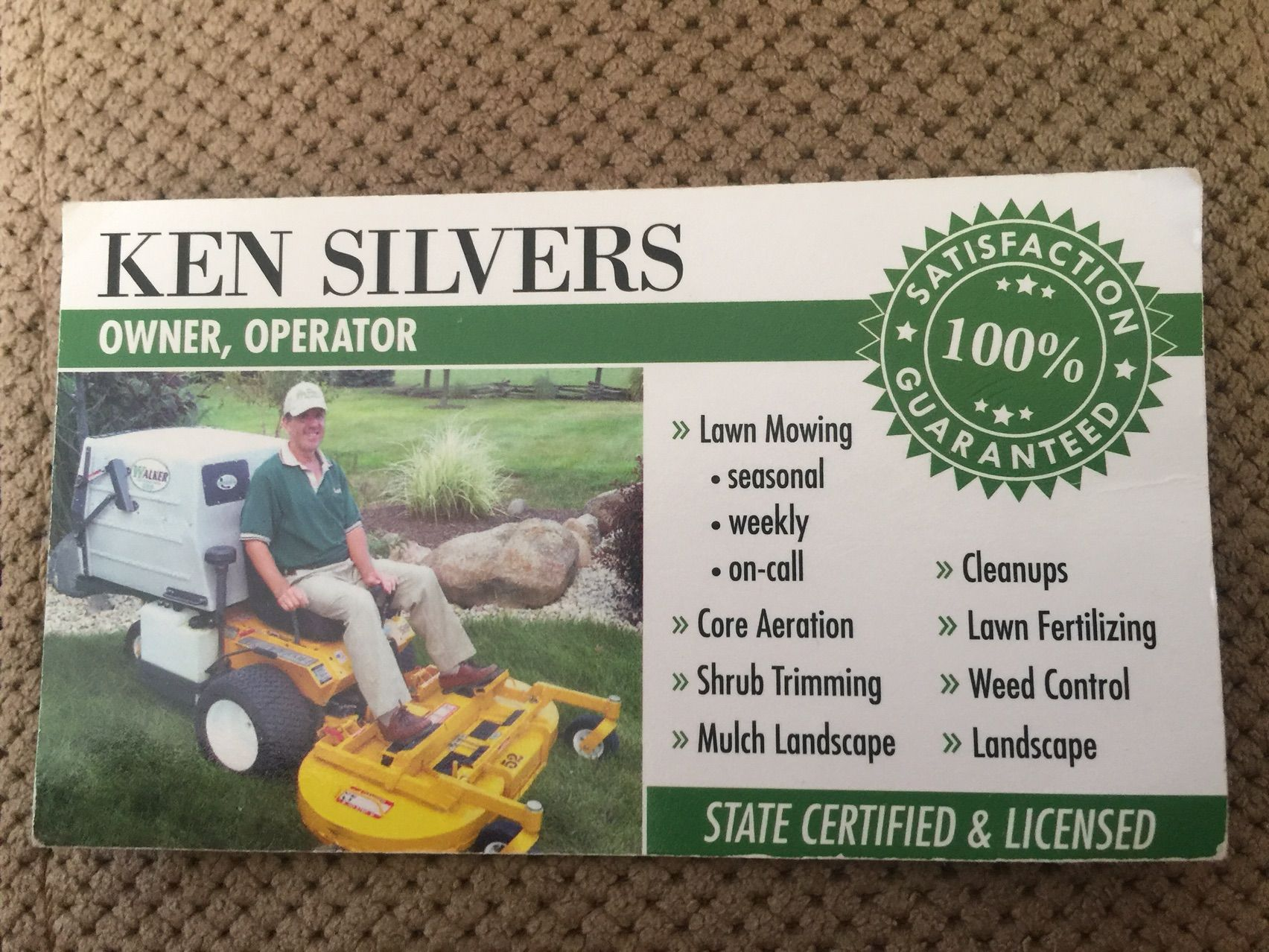 Ken Silvers Residential Lawn Care reslwncre on Pinterest