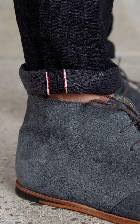 804feaface7 Men's grey suede desert boots -- menswear style I wear mine all the ...