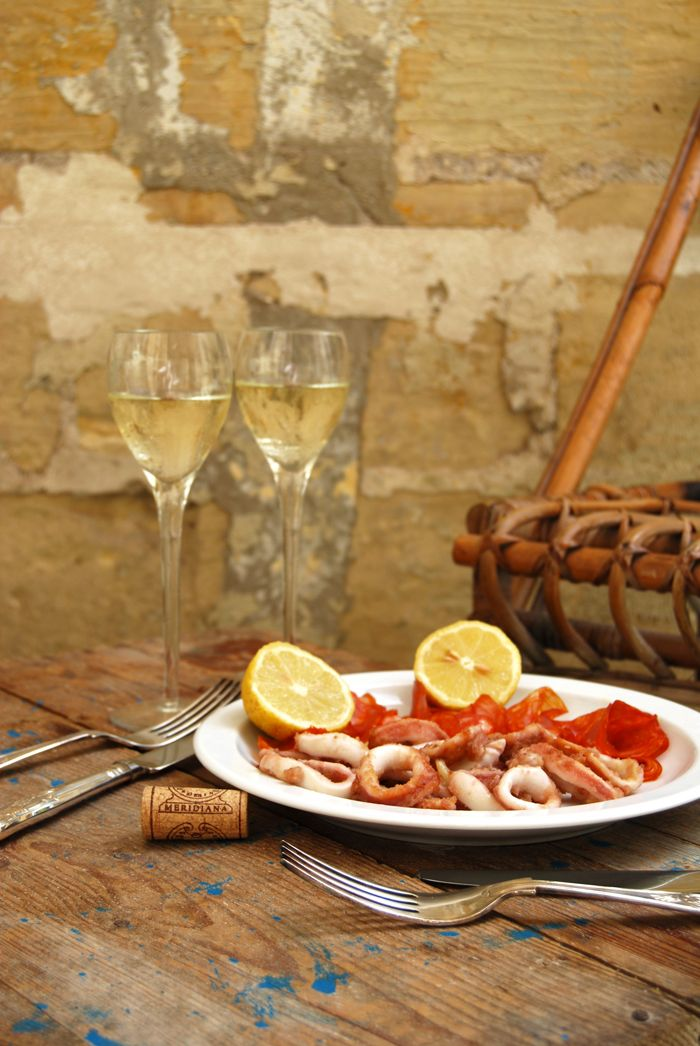 Golden Calamari With Chorizo And A Visit To The Meridiana Wine - Cuisine meridiana