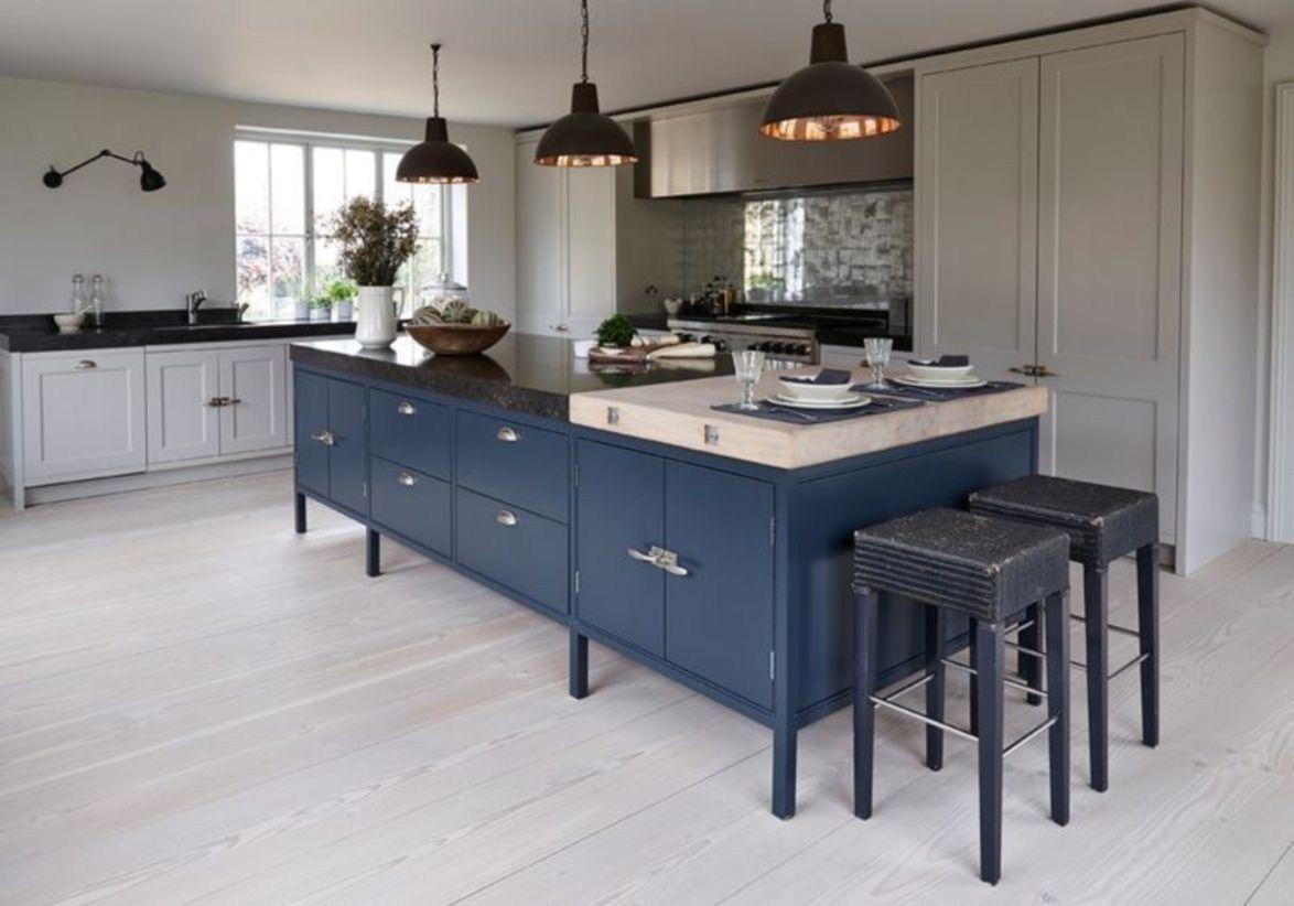 Popular White Kitchen Navy Island Ideas 19 Kitchen Design Blue Gray Kitchen Cabinets Kitchen Cabinets Decor