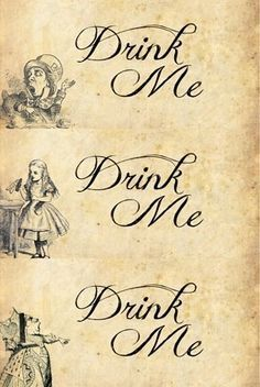 Drink me tag google search alice tea party pinterest alice alice in wonderland drink me tags pronofoot35fo Images