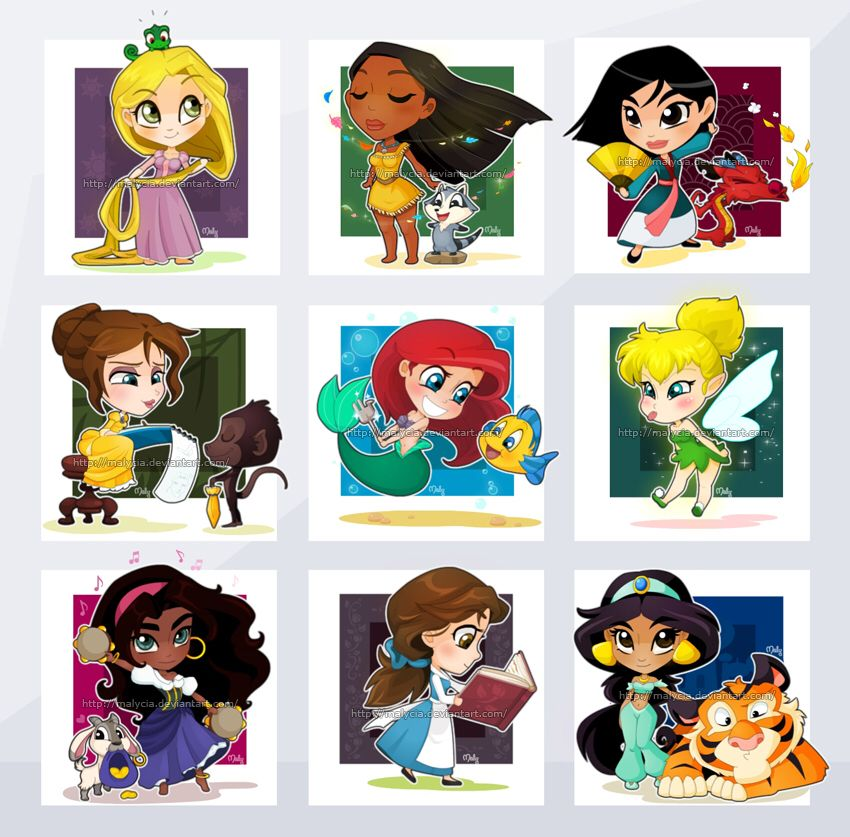 Chibi disney girls princesse disney pinterest - Prince et princesse disney ...