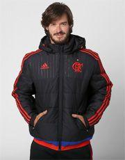 Jaqueta Adidas Flamengo c  Capuz - Preto+Vermelho  9a1da835a4cdb