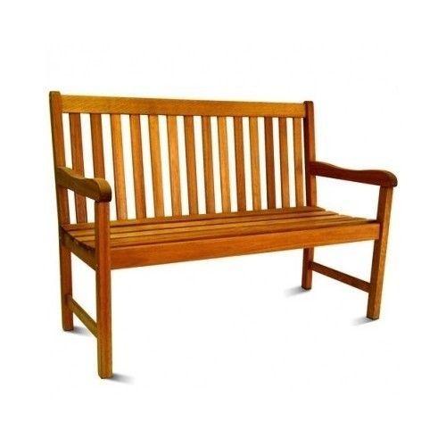 Porch Patio Bench Eucalyptus Outdoor Indoor Wood 4 foot 2 Seater